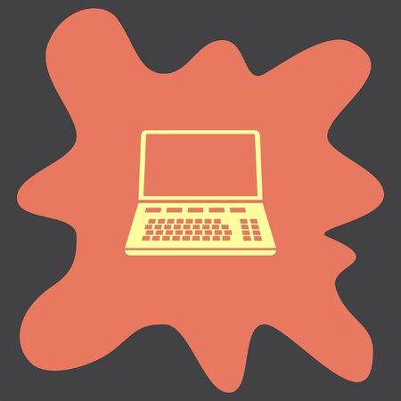 top: Lap Top vector icon Illustration