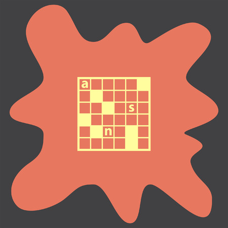 crossword: Crossword Puzzle vector icon
