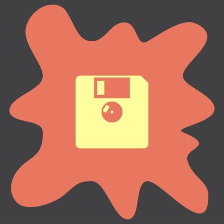 diskette: Diskette vector icon