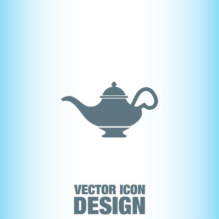 lamp vector: Magic Lamp vector icon Illustration
