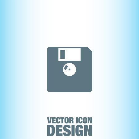 floppy drive: Diskette vector icon