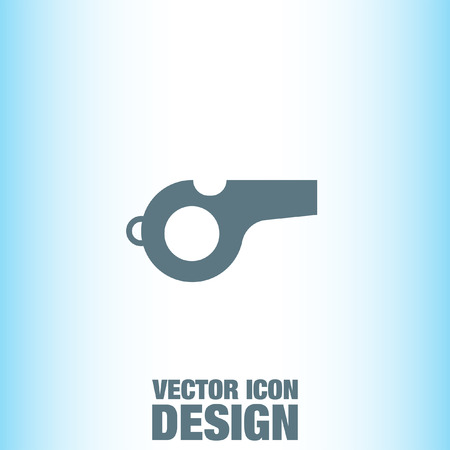 whistle: Whistle vector icon Illustration