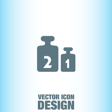 calibration: Weight for Scales vector icon