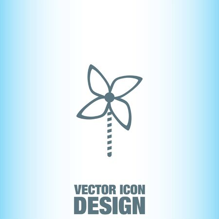 windmill toy: Kid Windmill Toy vector icon
