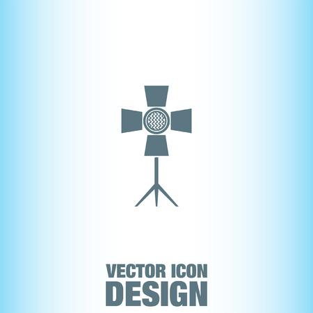 spotlight: Spotlight vector icon Illustration