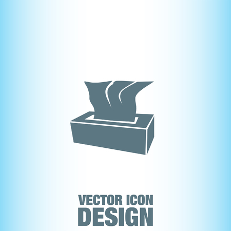 soft tissues: Tissue Napkin vector icon