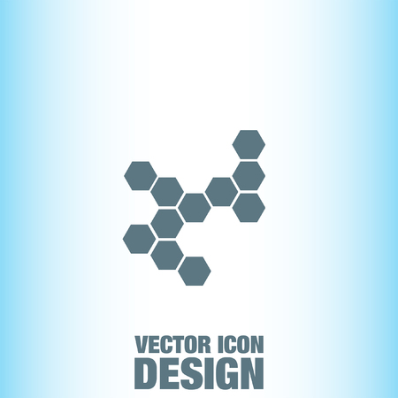 vector  molecular: Molecular Structure vector icon