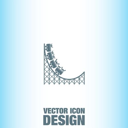 Rouleau vecteur Coaster icône