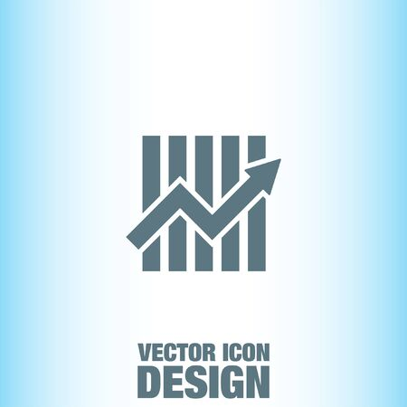 growth: Growth Chart vector icon Illustration