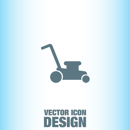 lawn care: Mower vector icon