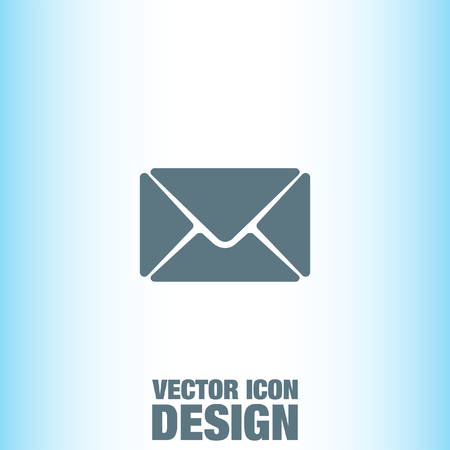 by mail: Mail vector icon Illustration