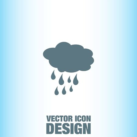 cloud icon: Cloud with Rain Weather vector icon