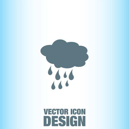 rain cloud: Cloud with Rain Weather vector icon