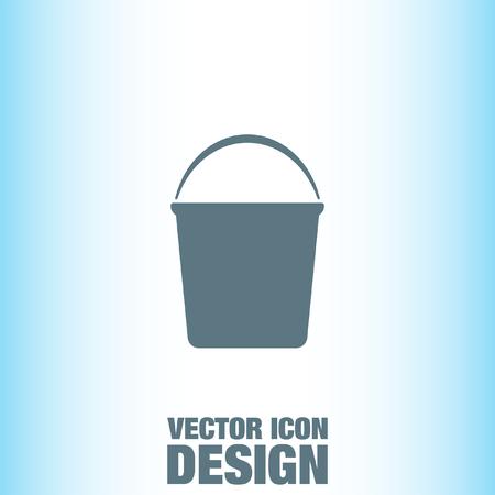 seau d eau: Eau Bucket vector icon