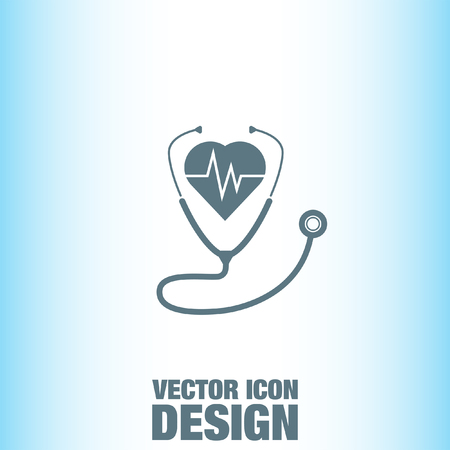 Stethoscope with Heartbeat vector icon