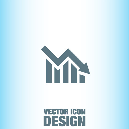 declining: Declining Graph vector icon