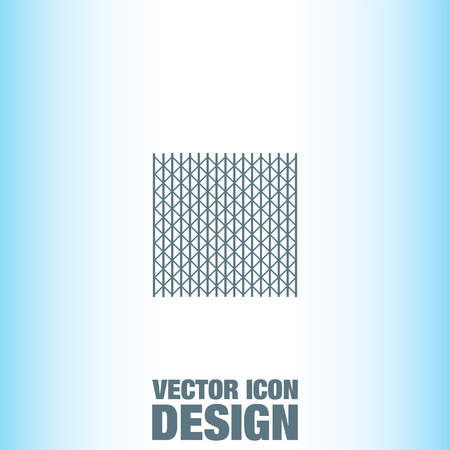 metal fence: Metal Fence vector icon Illustration