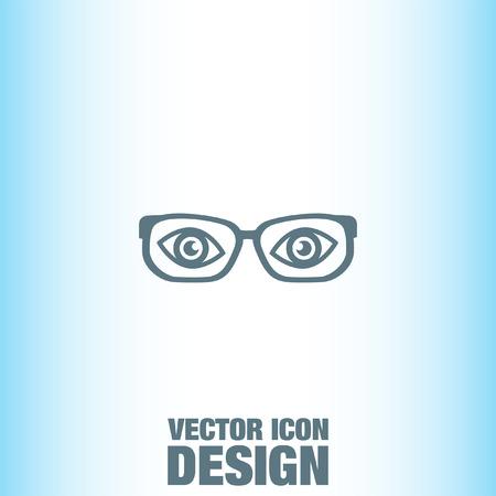 eye glass frame: Glasses vector icon