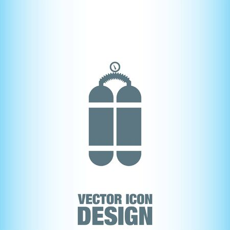 compressed air: Oxygen Cylinder vector icon