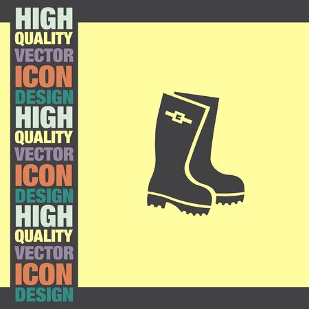 fall protection: Rain Boot vector icon