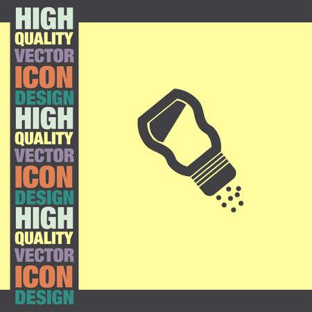 saltshaker: Saltshaker vector icon Illustration