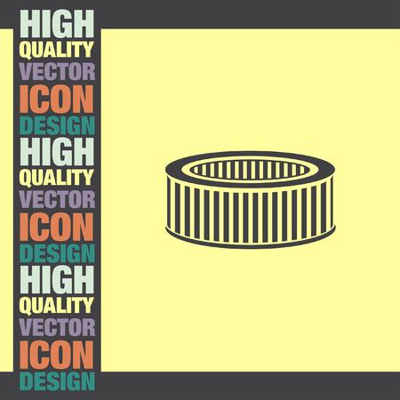 air filter: Car Air Filter vector icon