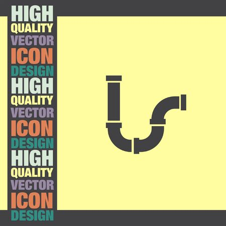 gutter: Pipes vector icon