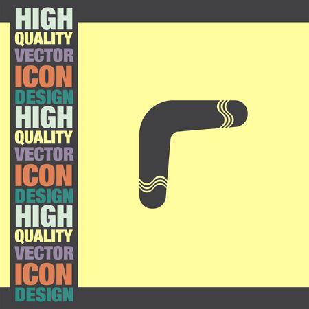 boomerang: Boomerang vector icon