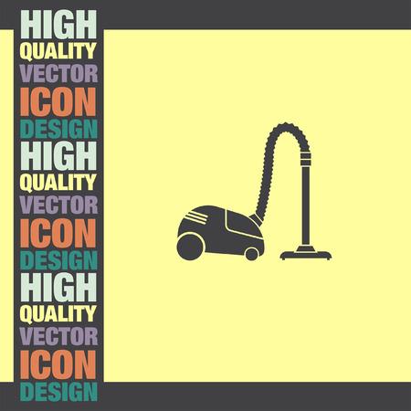 vac: Vacuum Cleaner vector icon Illustration