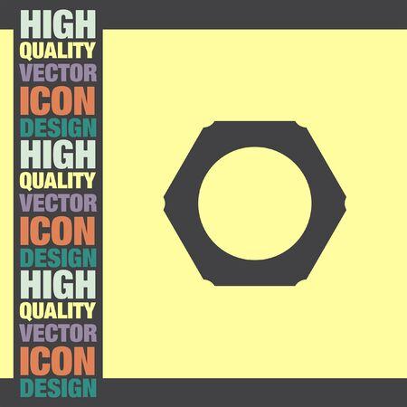 nut: Nut vector icon