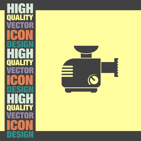 grinder machine: Meat Grinder Machine vector icon Illustration