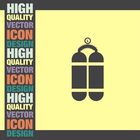 cylinder: Oxygen Cylinder vector icon