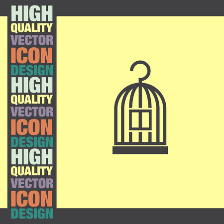 cage: Bird Cage vector icon