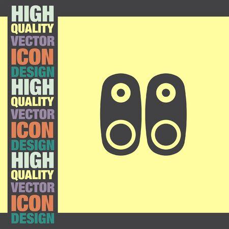 woofer: Audio Speakers vector icon