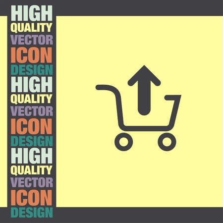 shopping cart icon: Remove from Shopping Cart vector icon Illustration