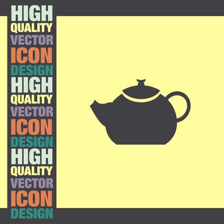 creamer: Teapot vector icon