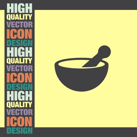 pestle: Mortar and pestle pharmacy vector icon