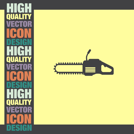 chainsaw: Chainsaw vector icon