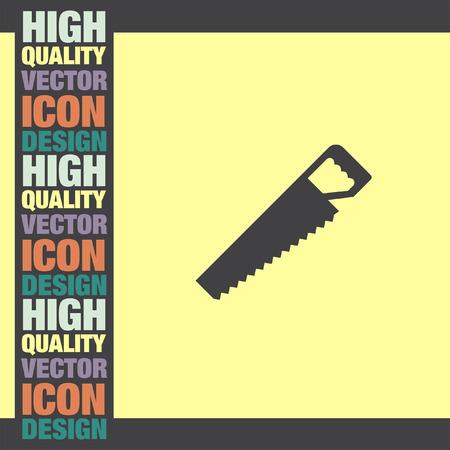 handsaw: Sierra de mano del icono del vector