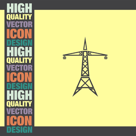 electrical tower: Power Line vector icon Illustration