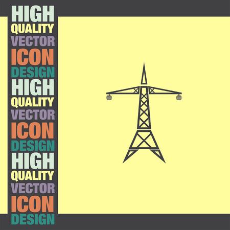 pylon: Power Line vector icon Illustration