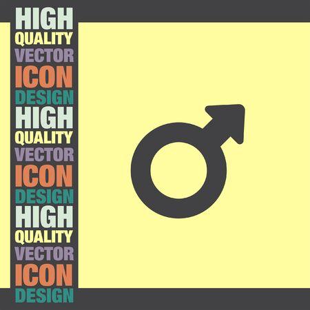 gender: Male Gender symbol vector icon