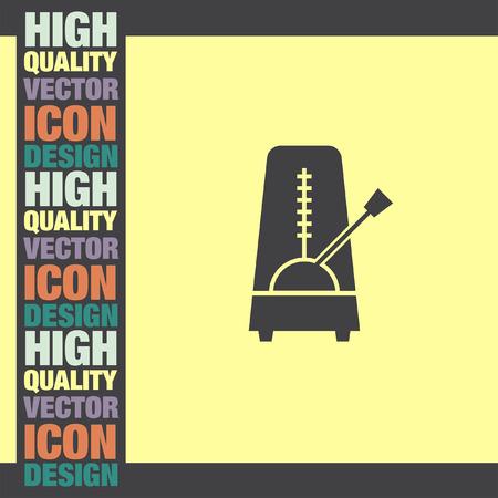 metronome: Metronome vector icon Illustration