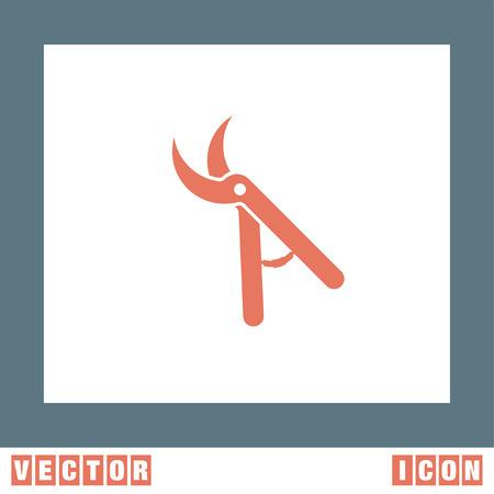 pruner: Garden Pruner vector icon Illustration