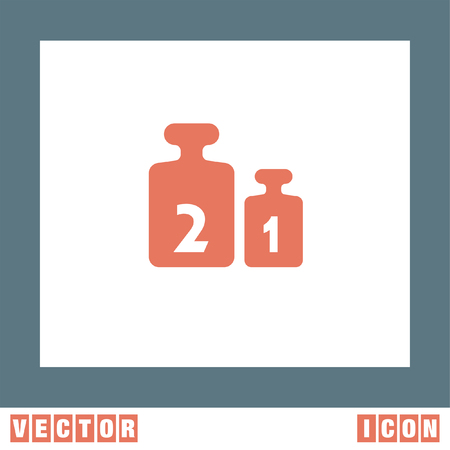 Weight for Scales vector icon Stock Vector - 56203320
