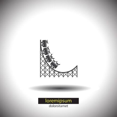 rollercoaster: Roller Coaster vector icon