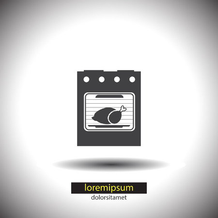 gas cooker: Oven vector icon Illustration