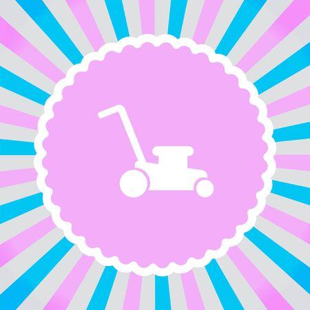 garden maintenance: Mower vector icon