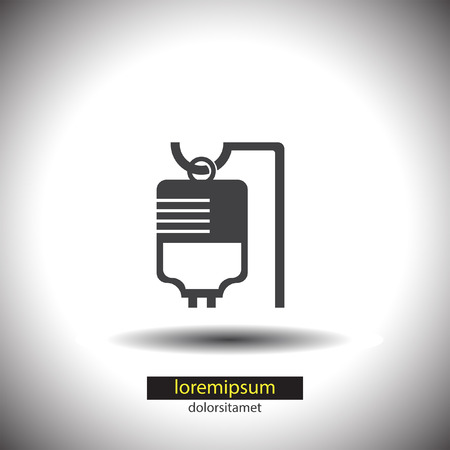 hydrate: IV Bag Medical vector icon Illustration