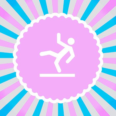 slips: Slippery Wet Floor vector icon